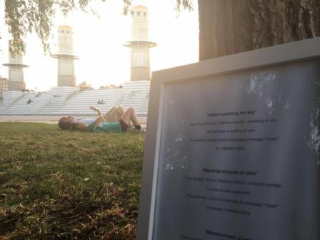 """Katerina Ashche """"Whilst watching the sky"""", Artist Takeover in the Parc de l'Espanya Industrial"""