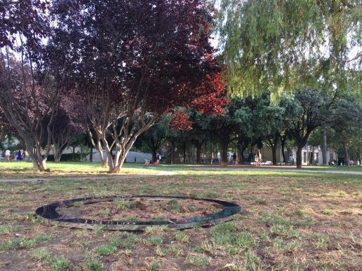 "Alexia Medici ""Discourse [41.3777, 2.1416]"", Artist Takeover in the Parc de l'Espanya Industrial"