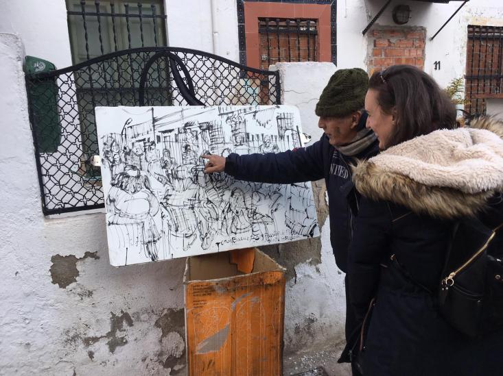"""Joan Bueno live sketch """"L'últim passatge"""" - Un tributo artístico para los vecinos del Passatge de Piera y la Colònia Castells. https://alexiamedici.com/l-ultim-passatge at"""